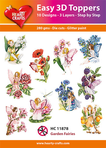 Hearty Crafts Easy 3D-Toppers Garden Fairies