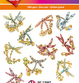 Hearty Crafts Easy 3D-Toppers Jewel Dragonflies