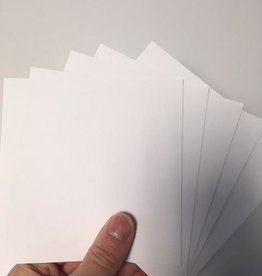 Linen onlay cards 13x13cm white 10 sheets