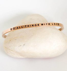 Prana Prana armband Do all things with love-rose gold