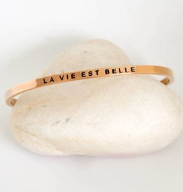 Prana Prana armband La vie est belle-rose gold
