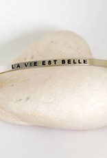 Prana Prana armband La vie est belle-silver