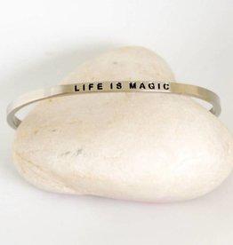 Prana Prana armband Life is magic-silver