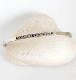 Prana Prana armband Live/Laugh/Love-silver