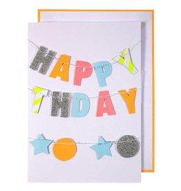 Meri Meri Wenskaart slinger-Happy Birthday