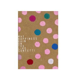 Räder Wenskaart sparkling-May happiness rain on you like confetti