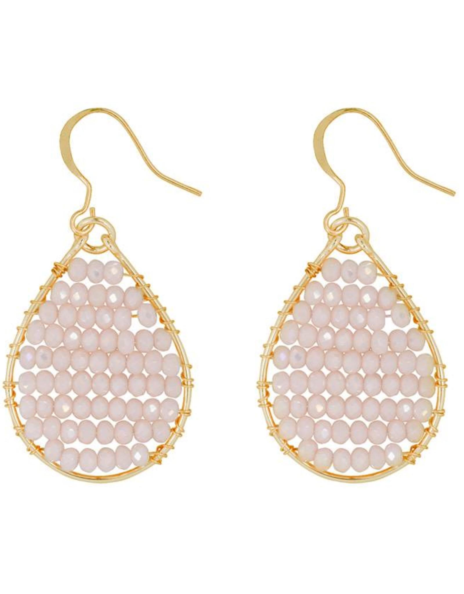 Hinth Oorbellen Monsoon goldframe-white pearl