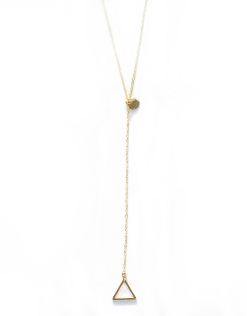 Jules Bean Ketting lang Precious-gold/triangle
