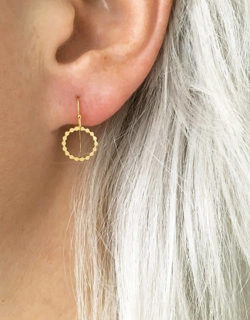 Jules Bean Oorbellen Dotted Circle-gold