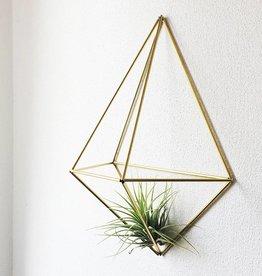 Draadzaken DIY wall planter Diamond-gold