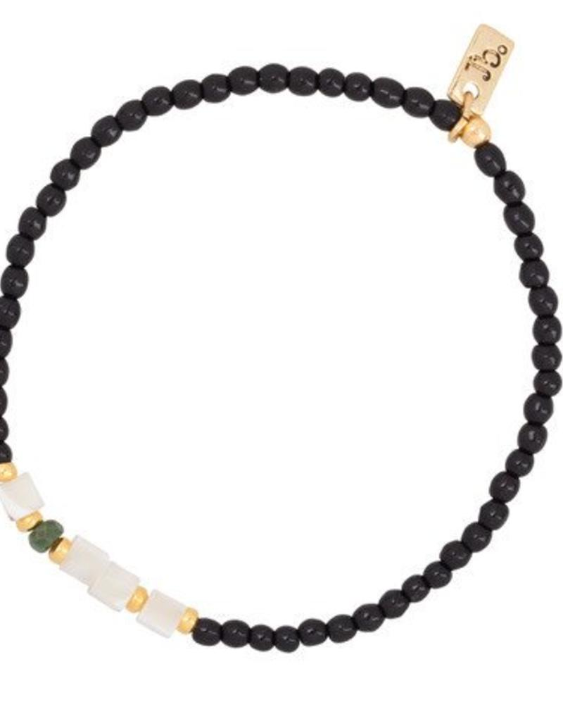 Jules Bean Armband Collectabean-black/Pearl/Jade