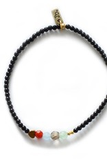 Jules Bean Armband Collectabean Beau-black/mix gems/heart
