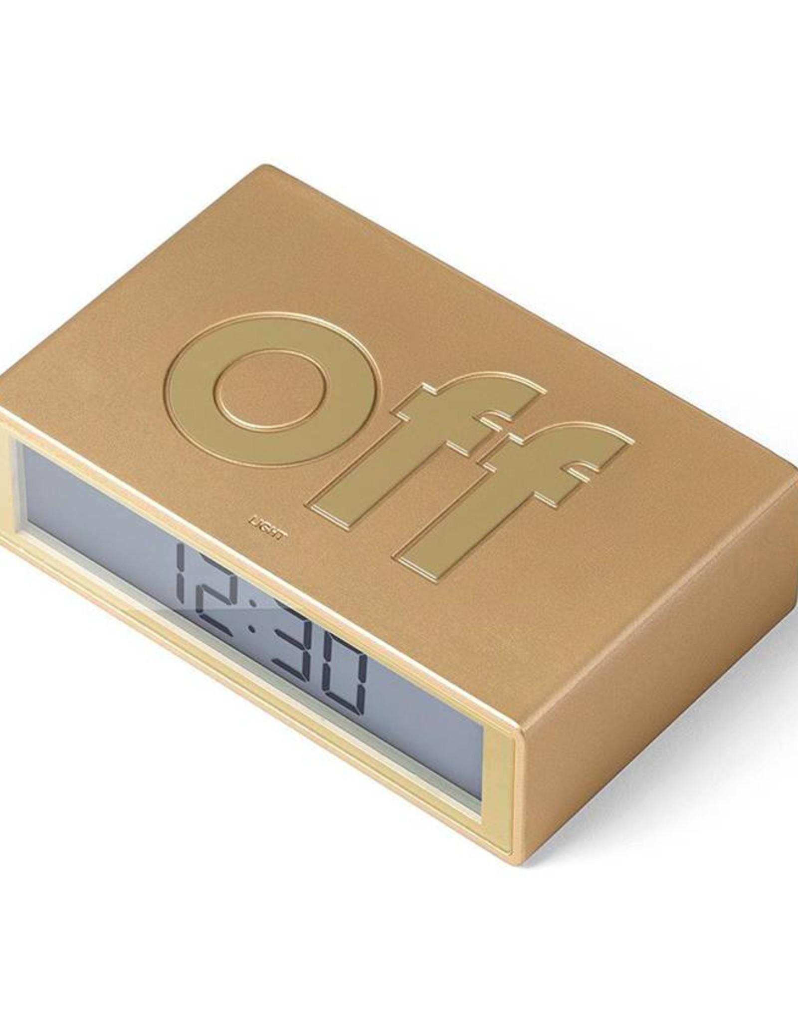 Lexon Flip wekker-metal gold champagne