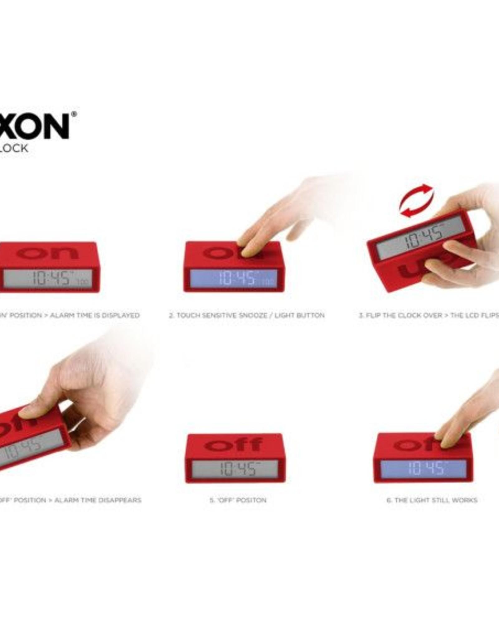 Lexon Flip wekker-red