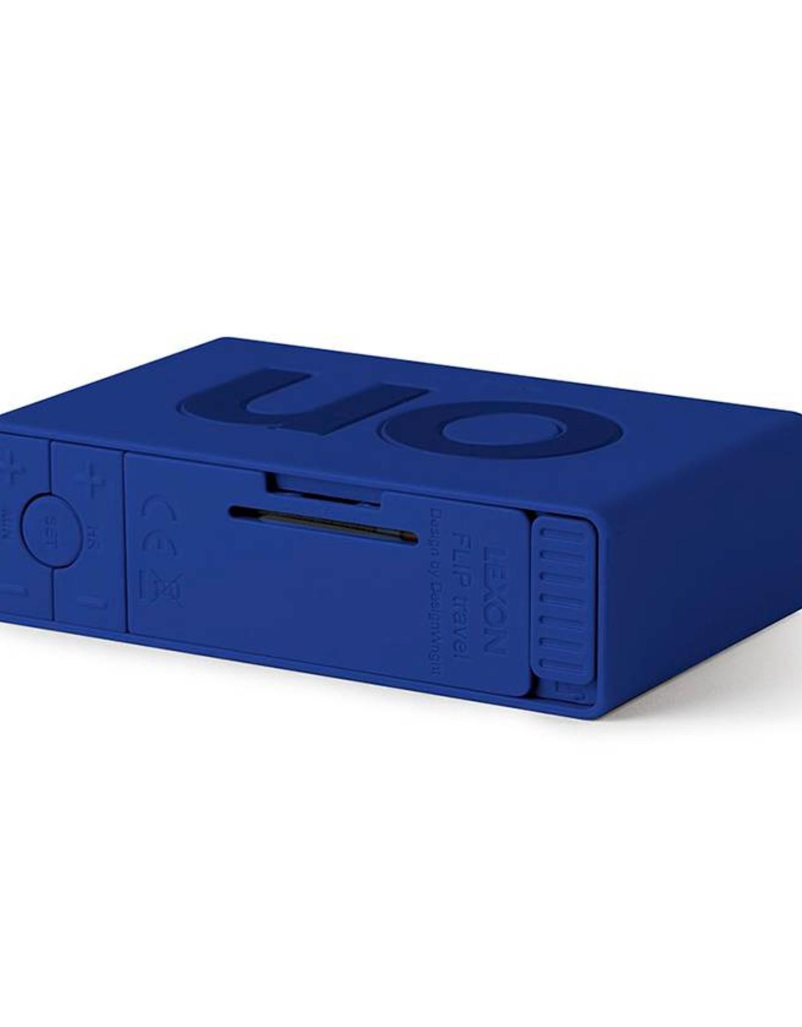 Lexon Flip wekker-dark blue