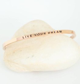 Prana Prana armband Live your dream-rose gold