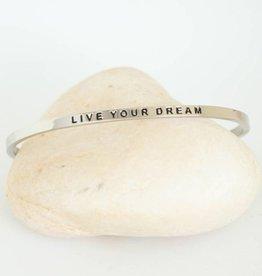 Prana Prana armband Live your dream-silver