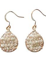 Hinth Oorbellen Lek goldframe-pearl