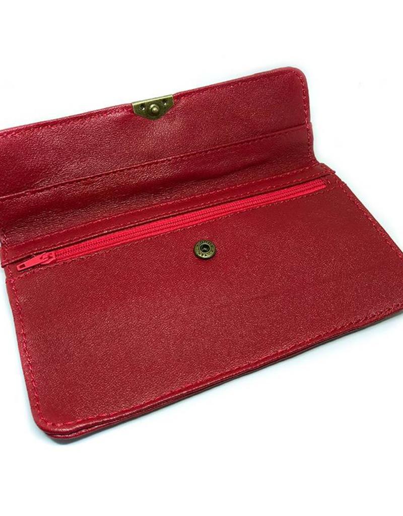 Flat Wallet-warm red