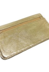 Flat Wallet-shiny gold