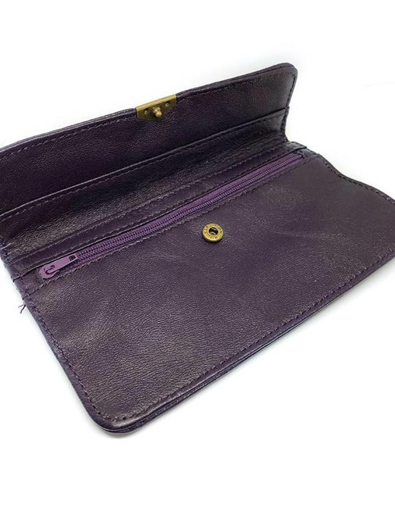 Flat Wallet-dark purple