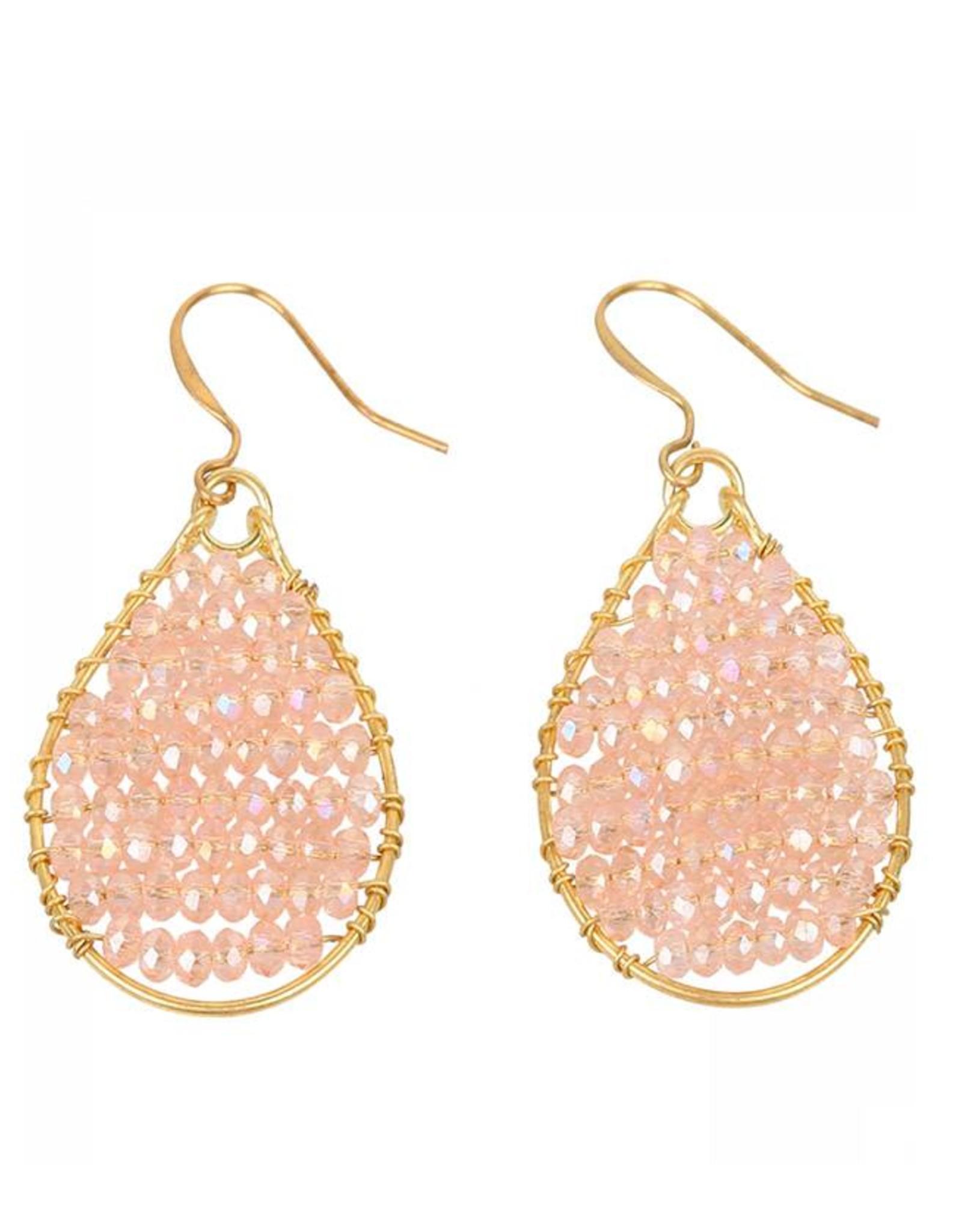 Oorbellen Monsoon goldframe-shiny pink