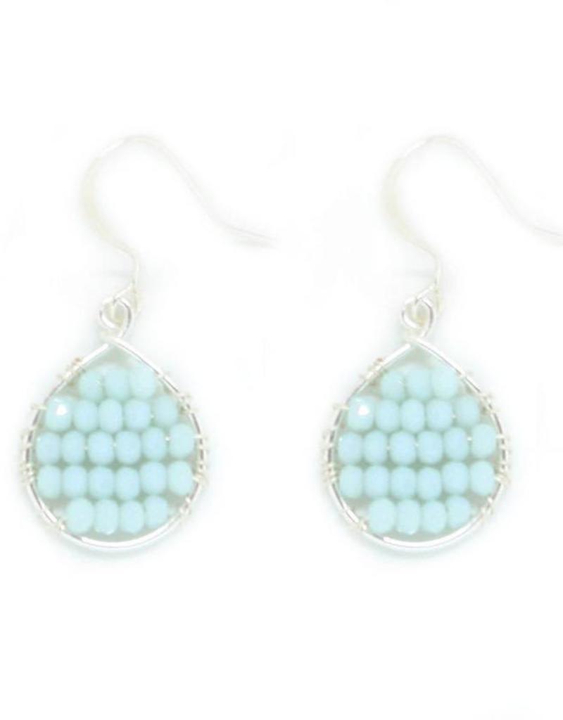 Hinth Oorbellen Lek silverframe-light blue