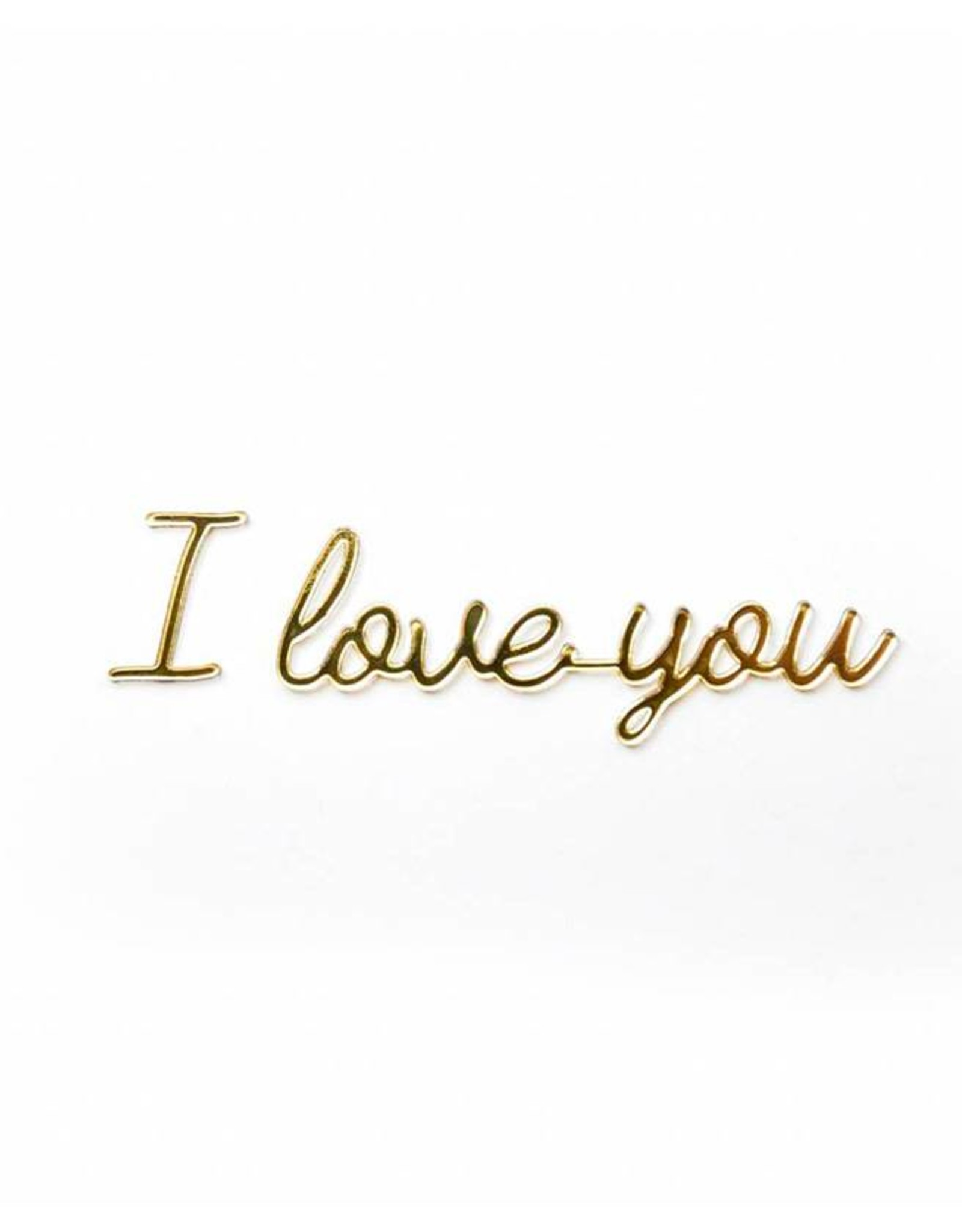 Goegezegd Quote I love you-gold
