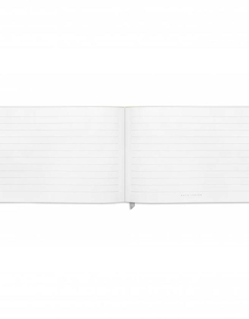 Guest Book / Notebook-metallic white