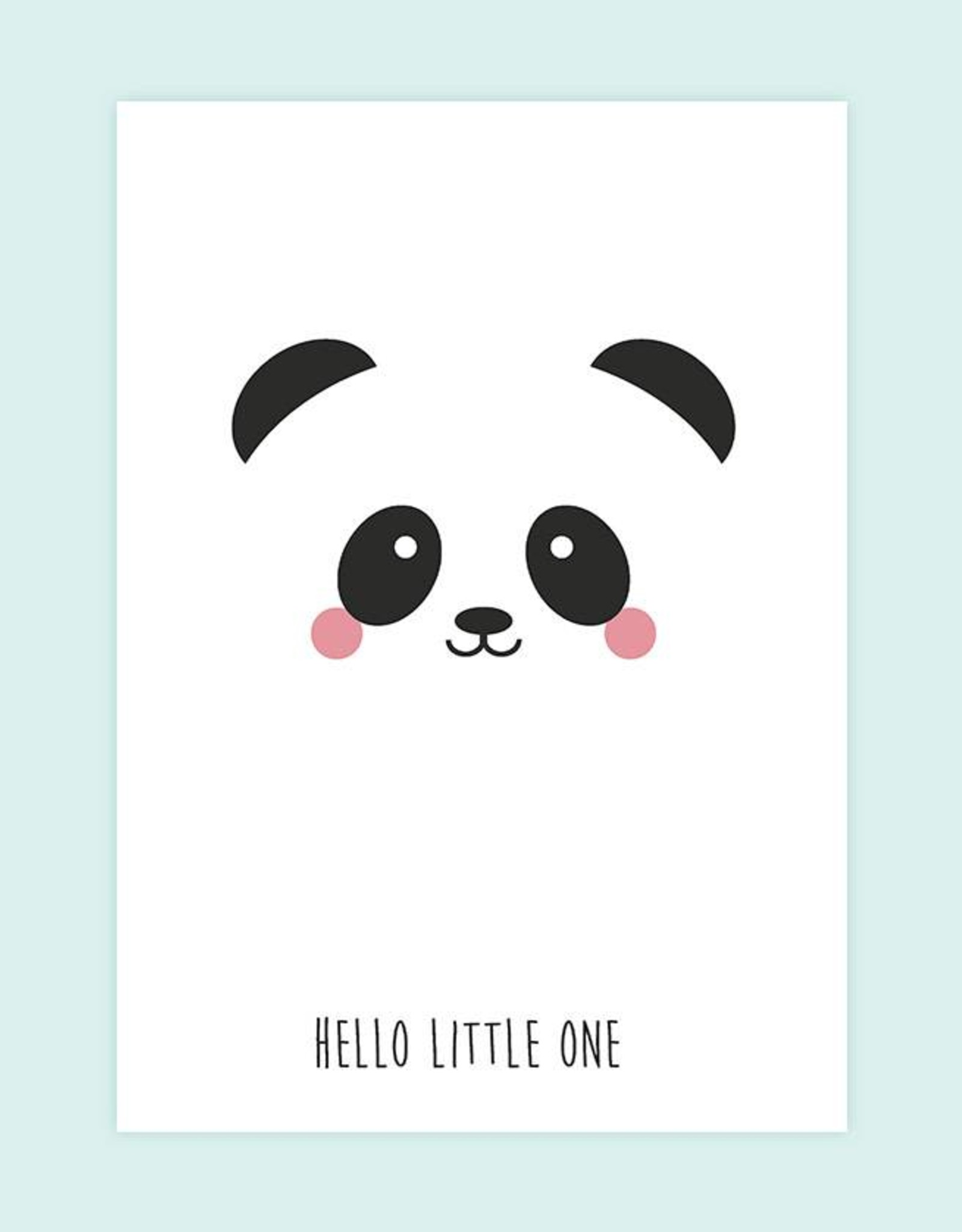 Wenskaart Studio Inktvis-Panda Hello little one