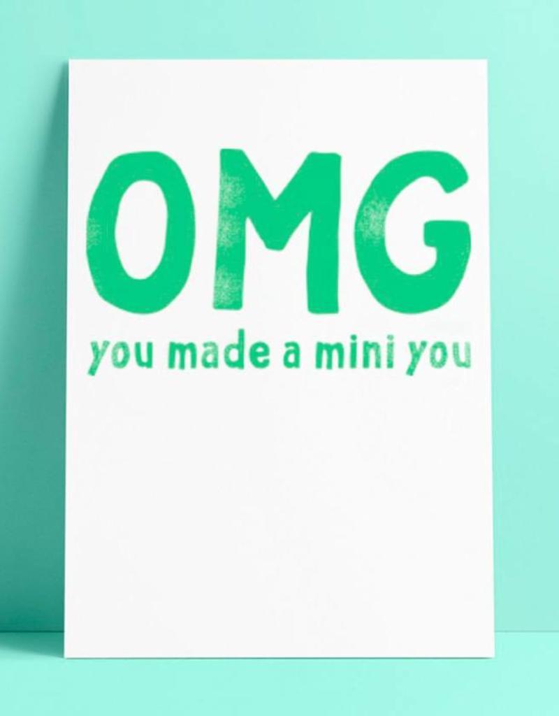 Wenskaart Studio Inktvis-OMG You made a mini you