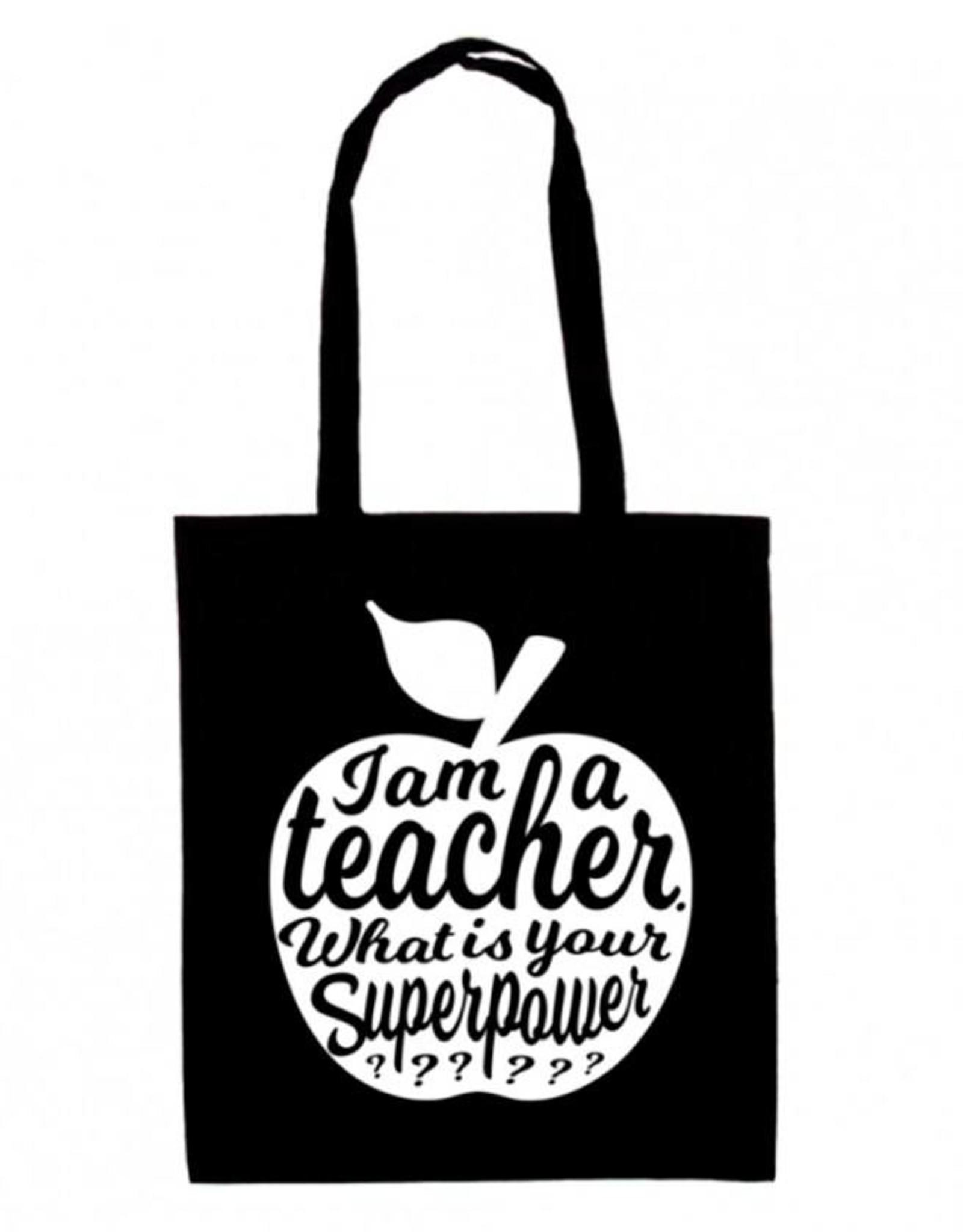 Tote Bag I'am a teacher-black