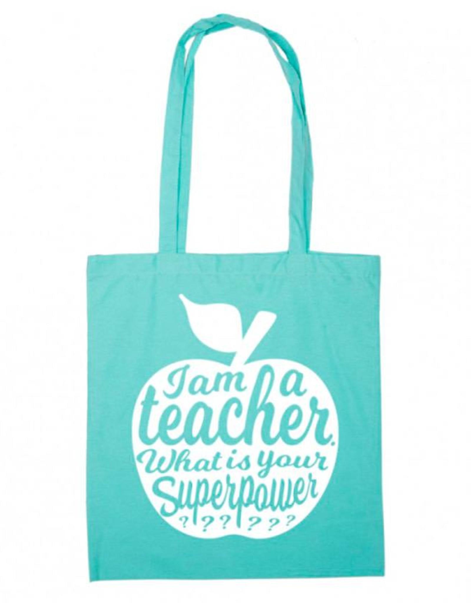 Tote Bag I'am a teacher-mint
