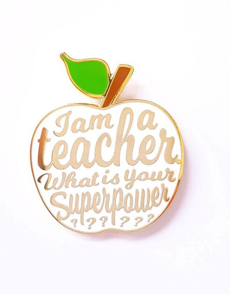 Pin I'am a teacher-white