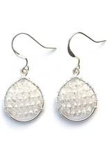 Hinth Oorbellen Lek silverframe-shiny white