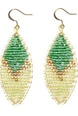 Hinth Oorbellen Petal goldframe-summer green