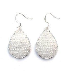 Hinth Oorbellen Monsoon silverframe-shiny white