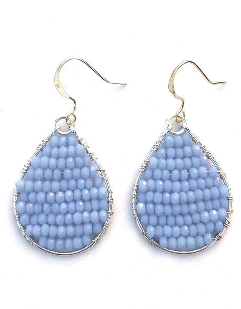 Hinth Oorbellen Monsoon silverframe-soft blue