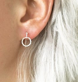 Jules Bean Oorbellen Dotted Circle-silver