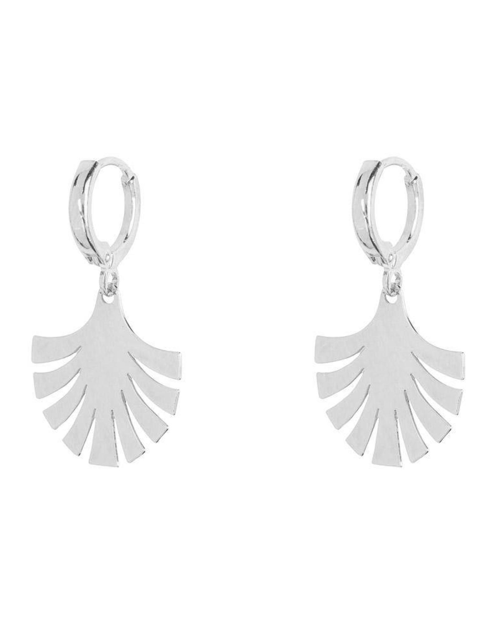 Jules Bean Oorbellen Peacock-silver