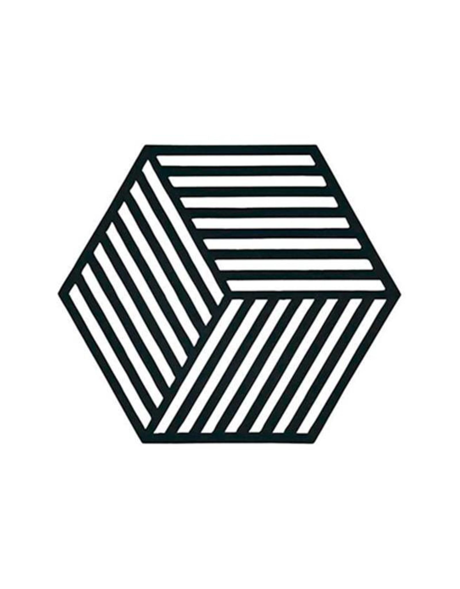 Onderzetter Hexagon-black silicone
