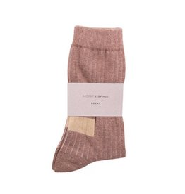 Monk & Anna Socks WOMAN Glitter Stripes-hazelnut