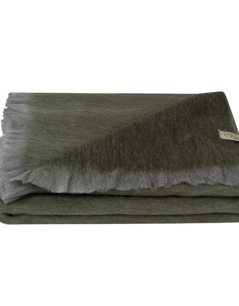 Bufandy Alpaca sjaal Fabian-grey green