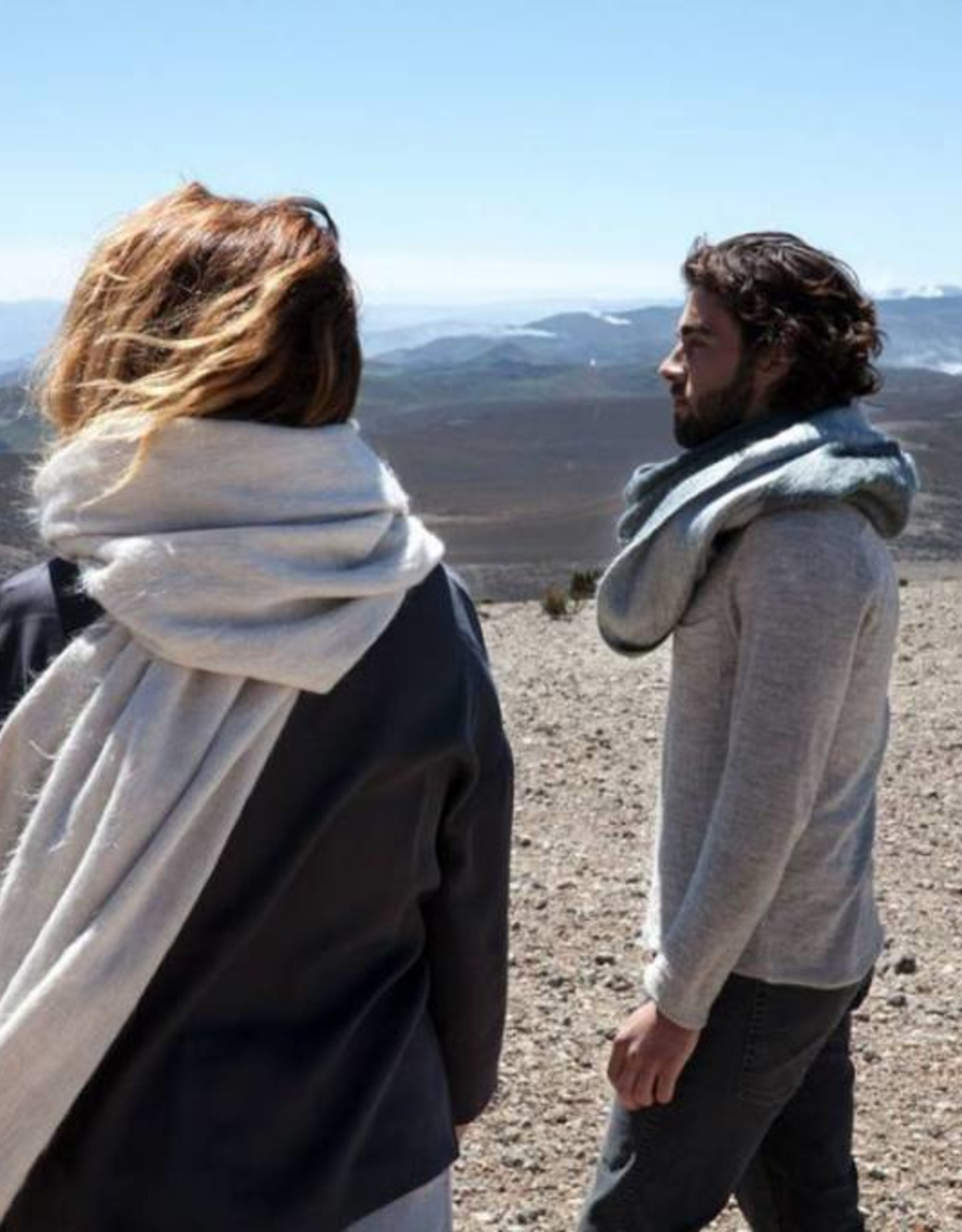 Bufandy Alpaca sjaal Fabian-white canvas