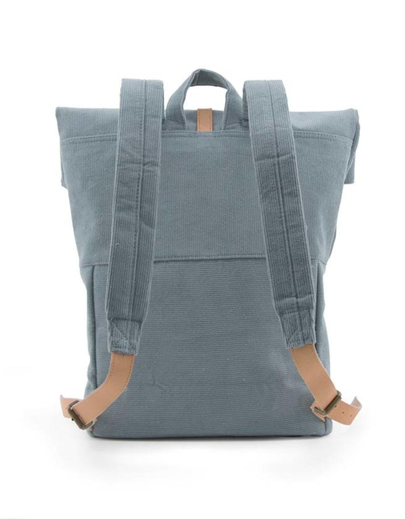 Monk & Anna Backpack HERB corduroy-dusty blue