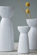 Hubsch Vaas Face Ceramics Large-white