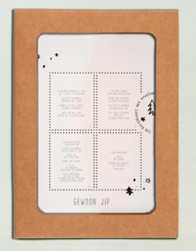 Gewoon Jip Kerstkaarten Set JIP-12 stuks
