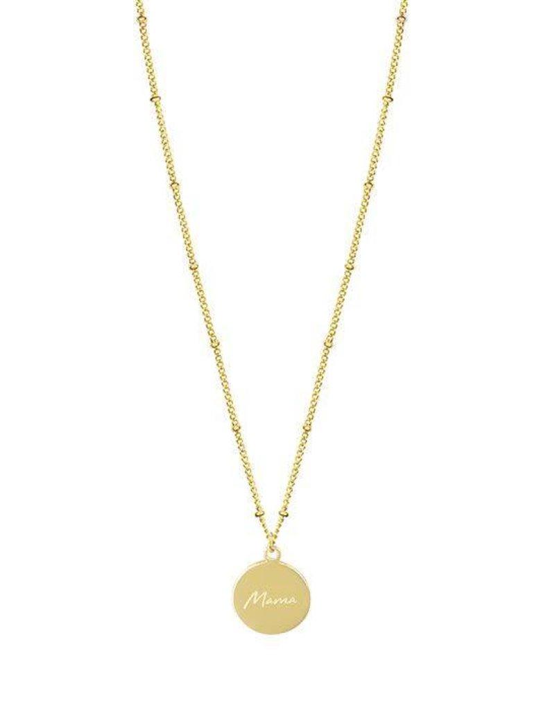 My Jewelry Ketting dots charm 'Mama'-gold