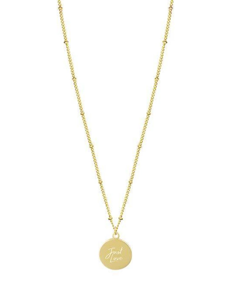 My Jewelry Ketting dots charm 'Just Love'-gold