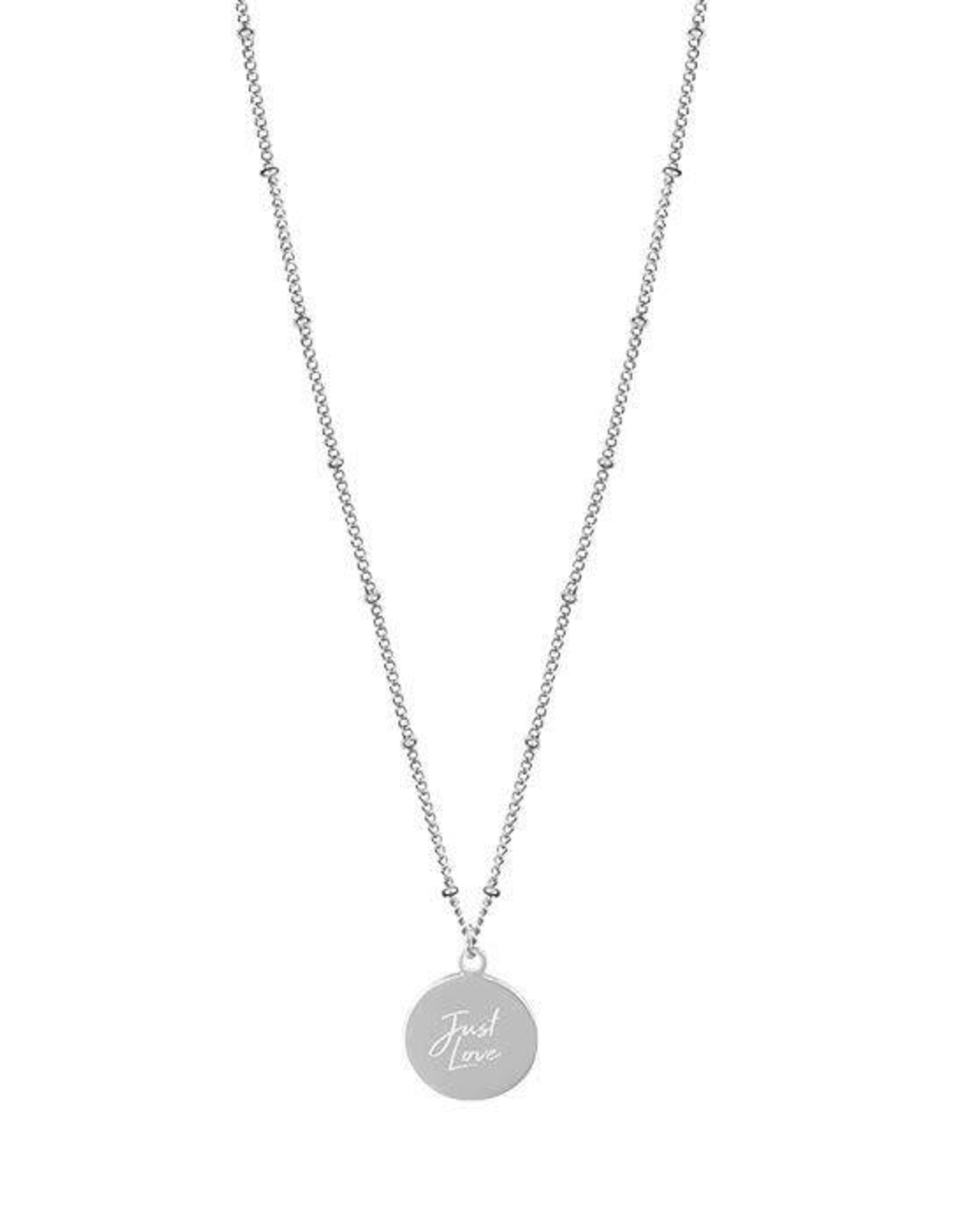My Jewelry Ketting dots charm 'Just Love'-silver